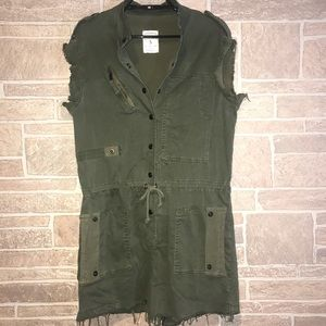 Zara woman's The Army Overall Size Small